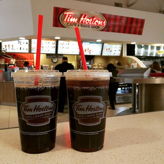 $1 iced coffee, yes please. We run on coffee.  #ad #timhortons #SponsorUs #toronto