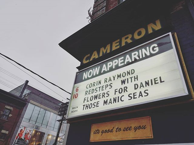 Toronto tonight, y'all.  #thosemanicseas #tour #touring #toronto #cameronhouse #livemusic #indierock #diy #telegenic #recordrelease