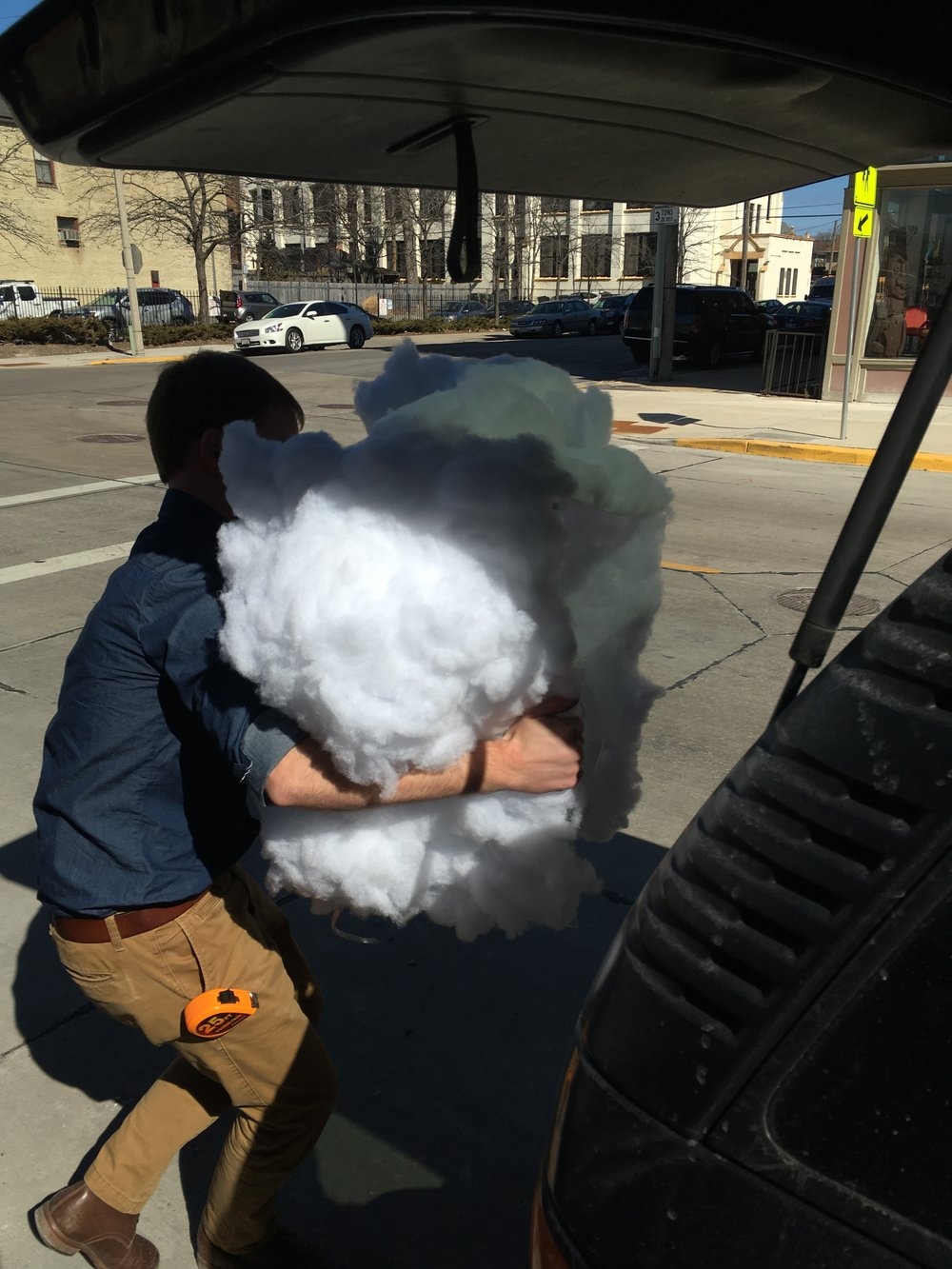 "Our fearless leader, Justin Hegarty, gives new meaning to the phrase ""in the cloud."""