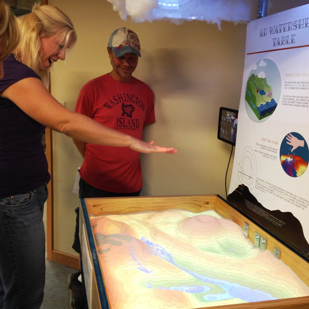 Environmental educators loved the Augmented Reality Table when they got a sneak peek at Riveredge Nature Center for the August 2018 professional development session.