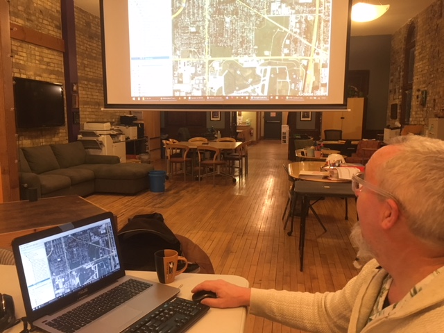 Teacher Don explores the MCM at one of our workshops. K-12 teachers are excited about how the map supports their curriculum, connects students with local water context, and makes links between history, science, social studies, and English Language Arts.