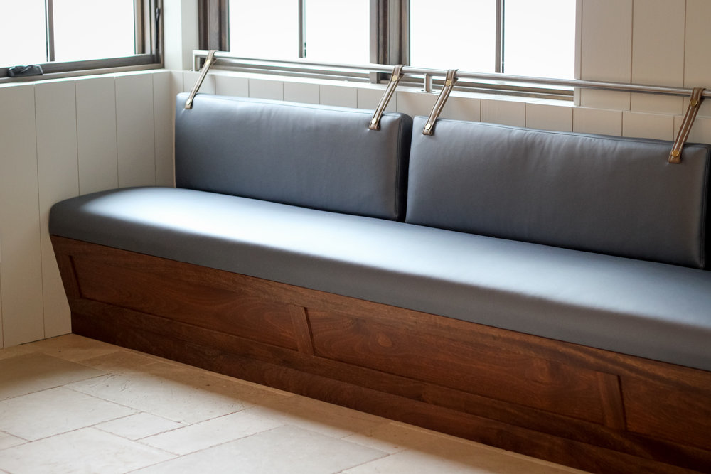 Kitchen Nook L Shaped Banquette, Upholstery By Decorative Home Interiors