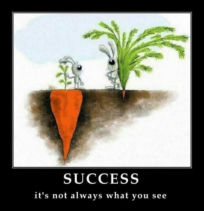 I love this photo. You can't always measure success on the outside. Sometimes it's about how you feel.