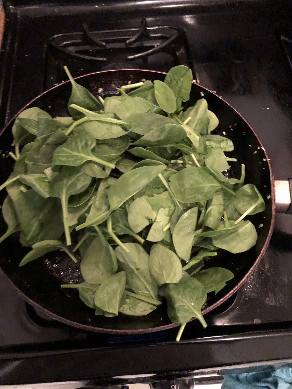 Spinach before Cooking