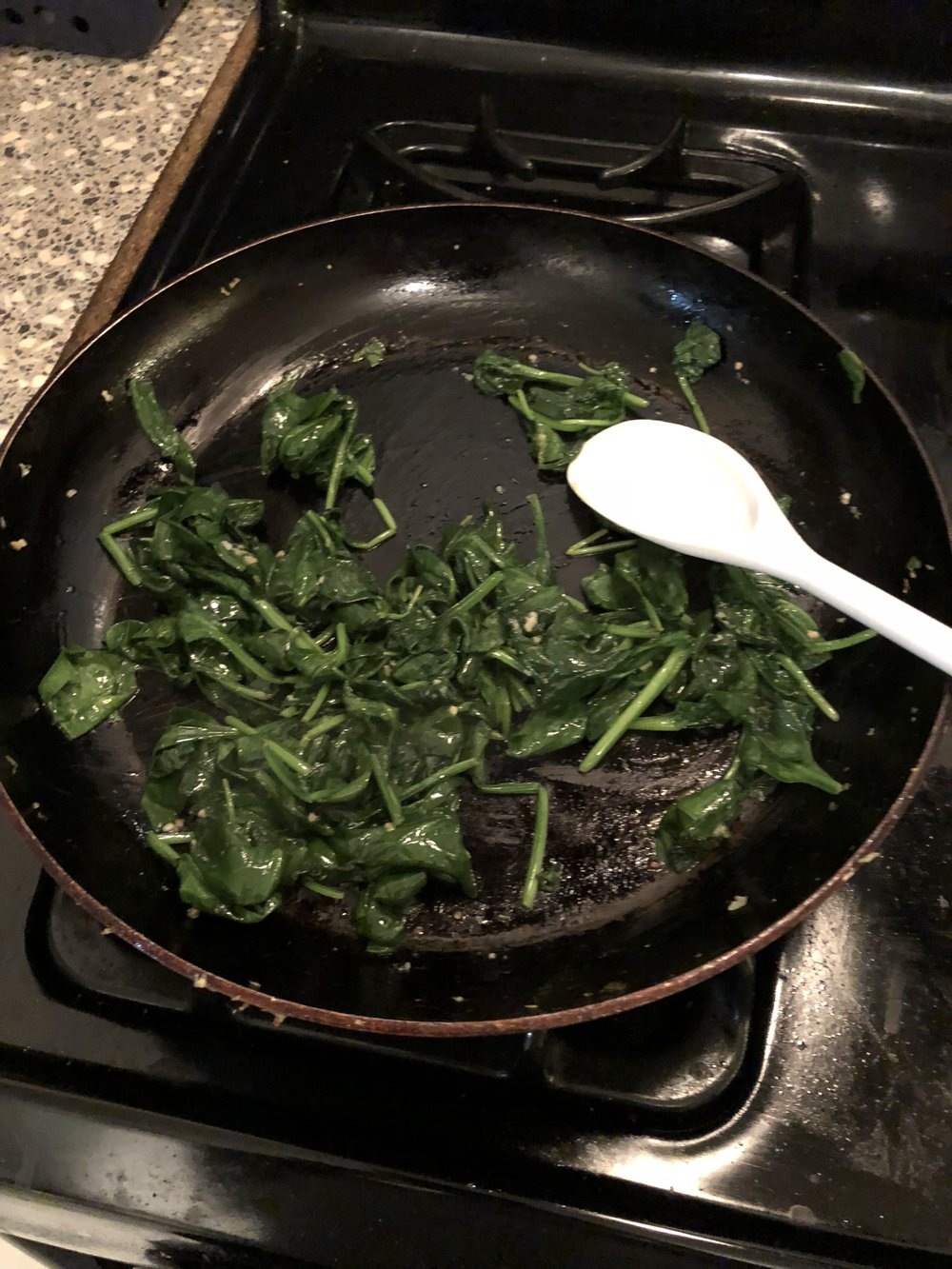 Spinach After Cooking