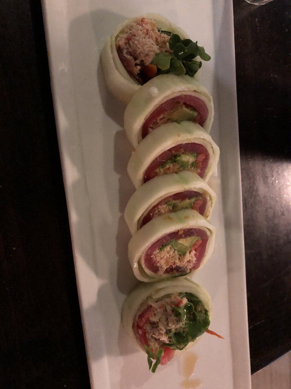 Cucumber Wrapped Sushi