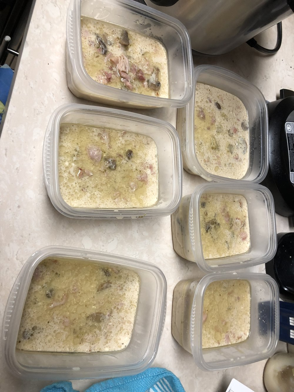 Finished Bacon Chicken Chowder