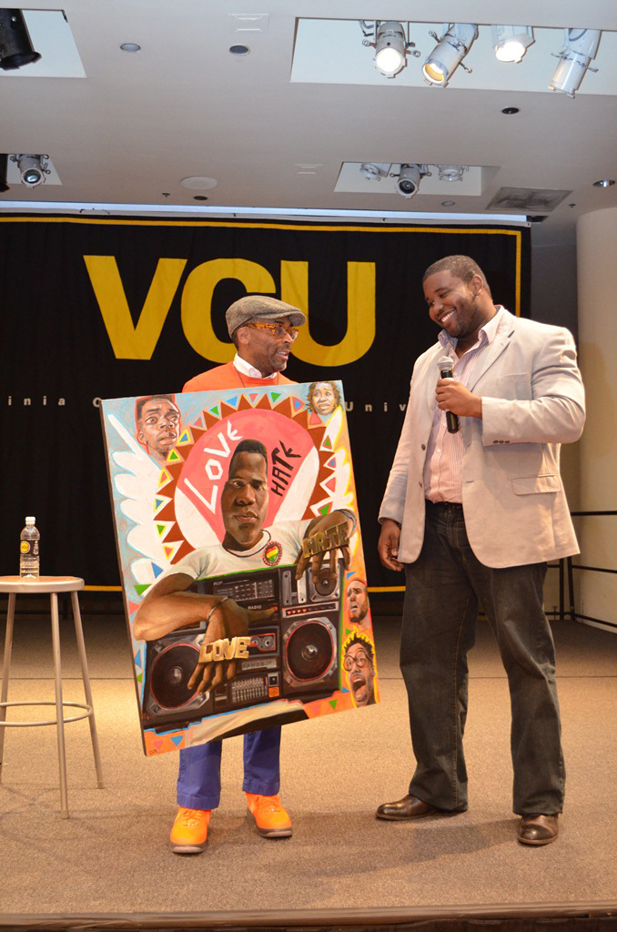 Art presentation to Spike Lee