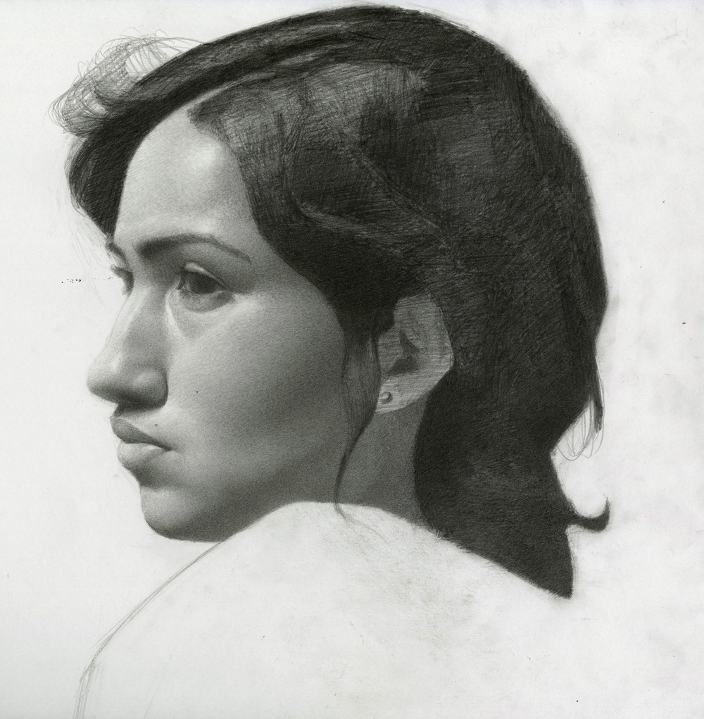 Melissa original graphite pencil drawing stanley rayfield