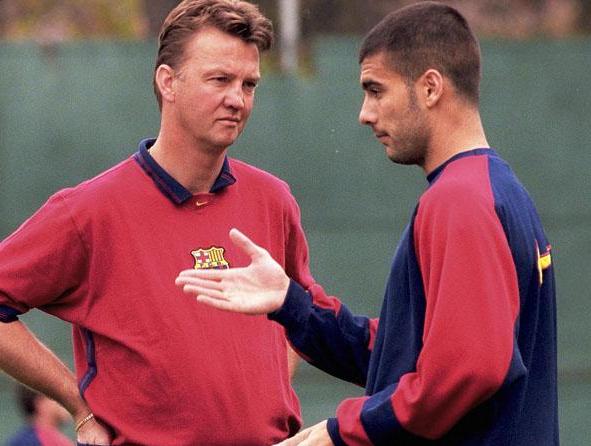 Van Gaal and Pep Guardiola