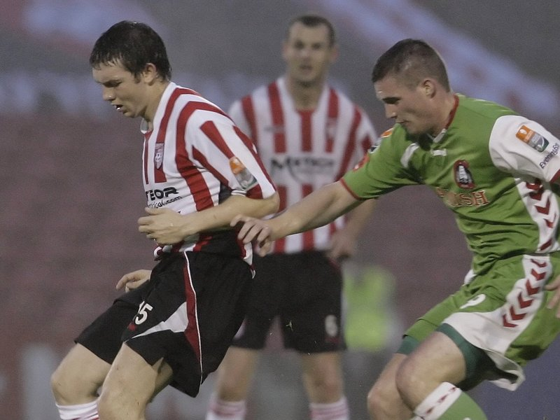 Darren Murphy in action for Cork City