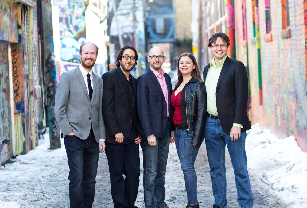 Terry Lim Photography  Left to right: Tim Crouch (flute), Anthony Thompson (clarinet), Curtis Vander Hyden (horn), Elizabeth Eccleston (oboe), Michael Macaulay (bassoon)