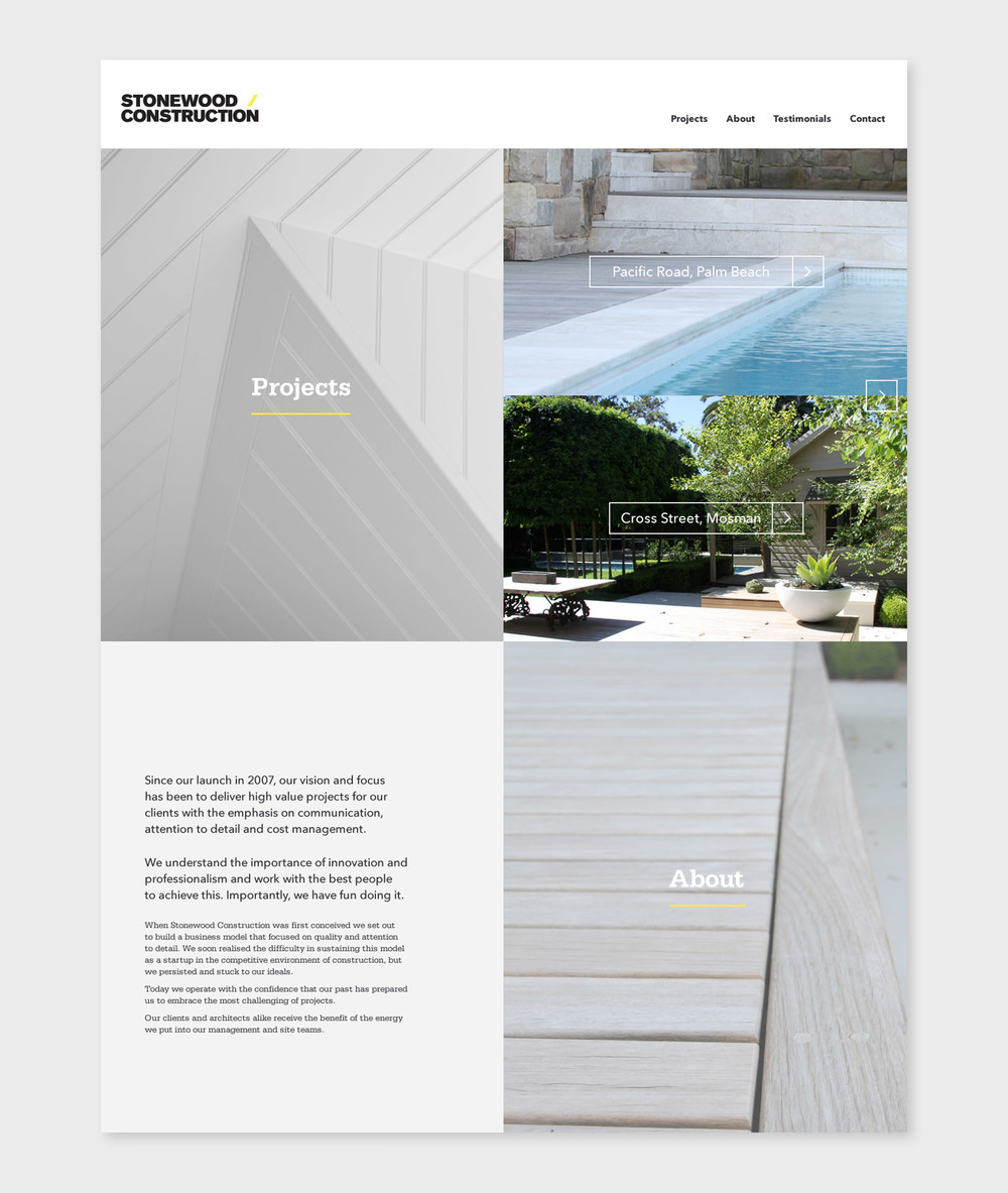 Stonewood Construction Website