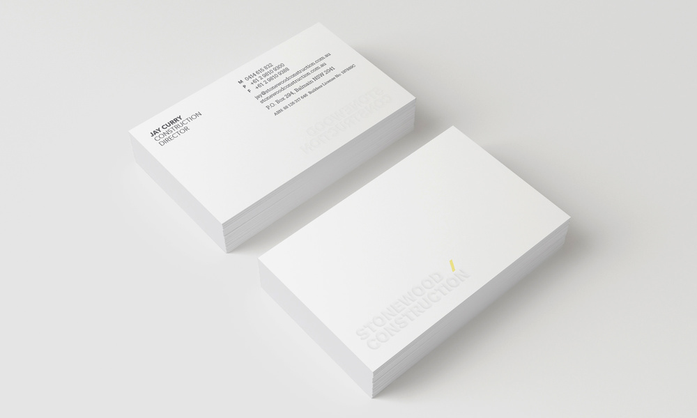 Stonewood Construction Stationery