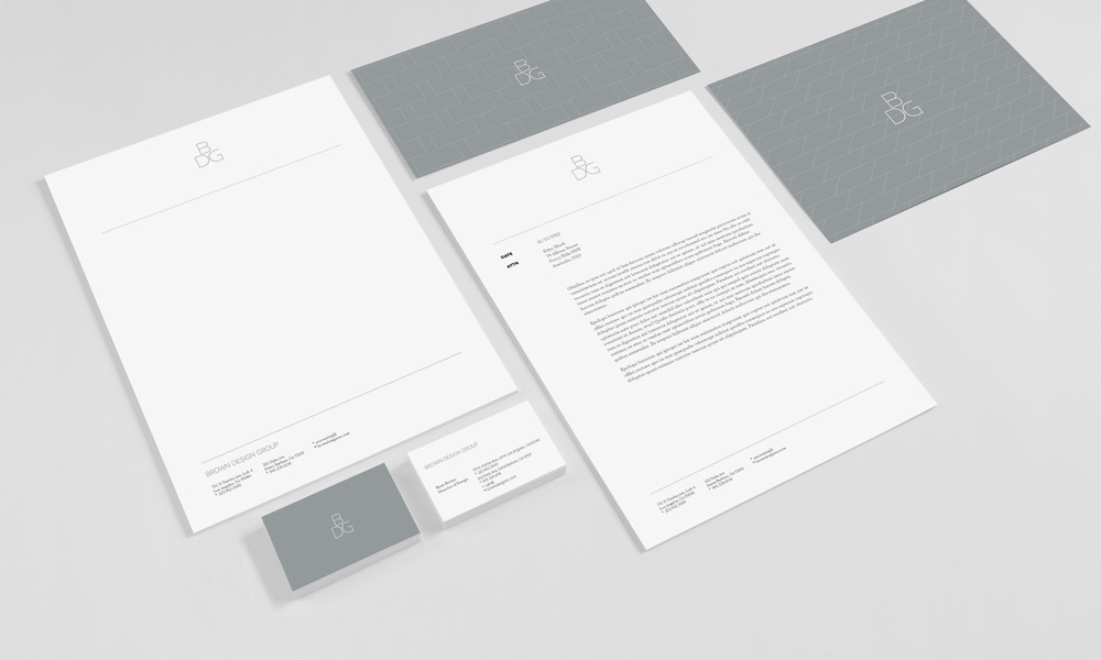 Brown Design Group Stationery