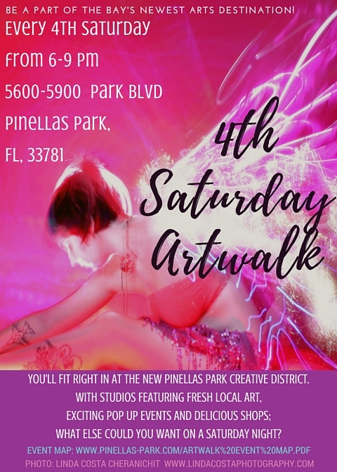 Join us every 4th Saturday from 6-9pm to see what all the artsy buzz is about in Pinellas Park!