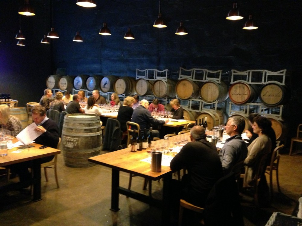 Wine tasting in The Barrel Room at The Epicurean Red Hill