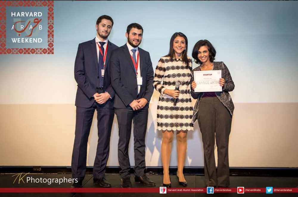 Harvard Arab Weekend NOV 2016 change:WATER Labs selected as 1st place winner in the Harvard Arab Weekend Startup Pitch Competition The 5th edition of the Startup Pitch worked to promote entrepreneurship in the Middle East and offer a prize of $20,000 to a winning pitch.