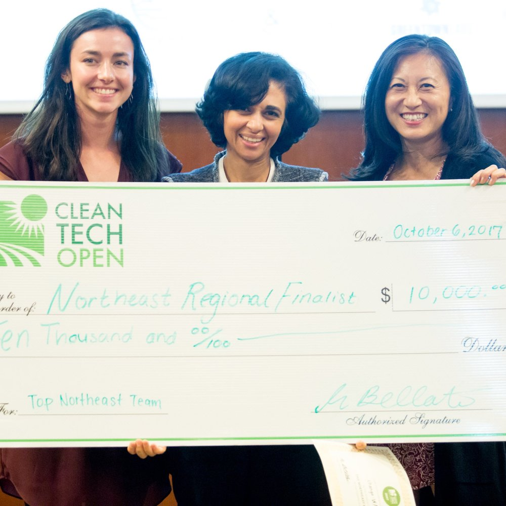 Cleantech Open NE SEP 2017   change:WATER becomes a Top 4 Regional Finalist at the 2017 Cleantech Open Northeast Accelerator   The winners, selected by a judging panel of top cleantech and business leaders, received $10,000 and will go on to represent the Northeast at the Cleantech Open Global Forum in Los Angeles, CA in January and compete with emerging environmental and energy tech firms for the national grand prize.