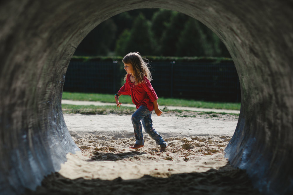 The tunnel in Priory Park  playground