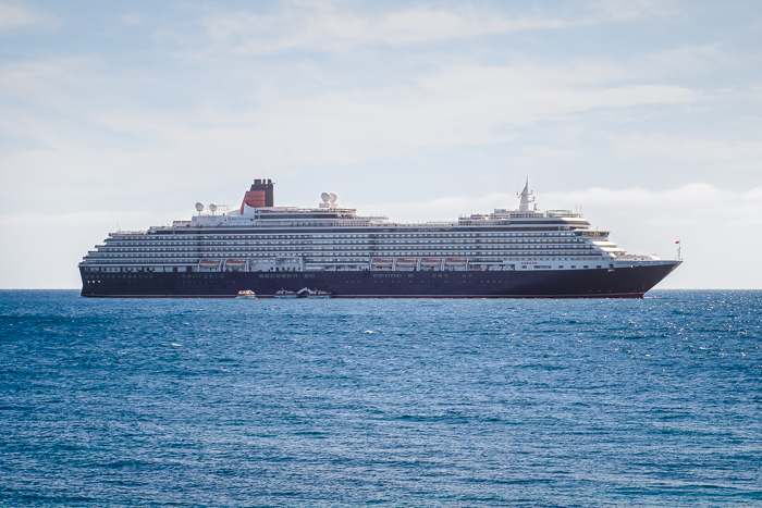 The Queen Victoria, anchored off the coast of Kangaroo Island.