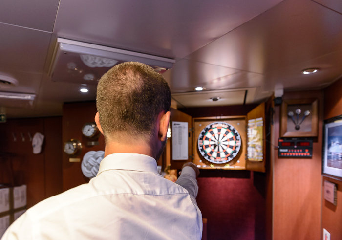 We spent several nights playing darts in the Officers Mess (where drinks were a lot cheaper).