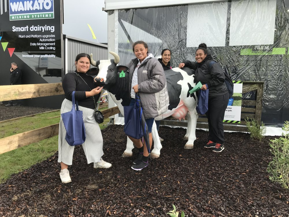 Copy of Students pose for a photo while taking part in the Amazing Race at Fieldays..jpg