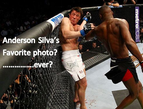 Anderson Silva wants this photo framed!