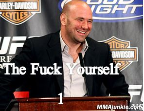 Classic Dana.  That smile means A, he's definitely not paying attention, and B, to go fuck yourself...politely.