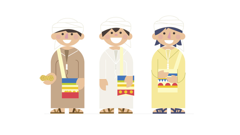 Boys outfit illustration