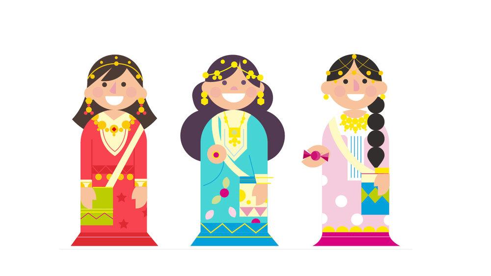 girls, kids, children, vector, color.jpg