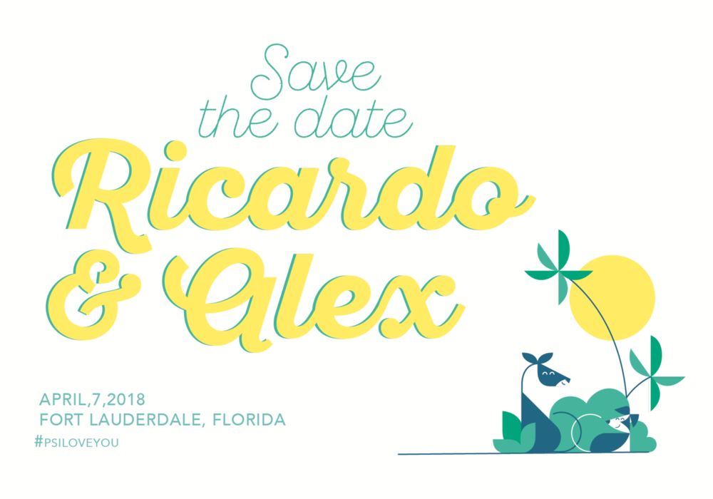 ricardo, alex, gay, wedding, invite, save the date, color, vector.png