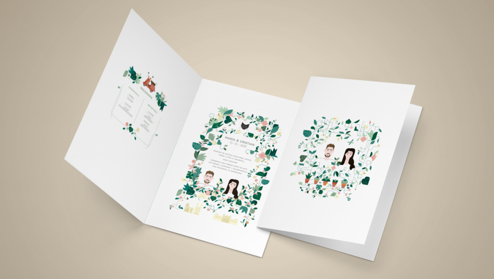 invite,wedding , boda, color, vector, plants, design .png