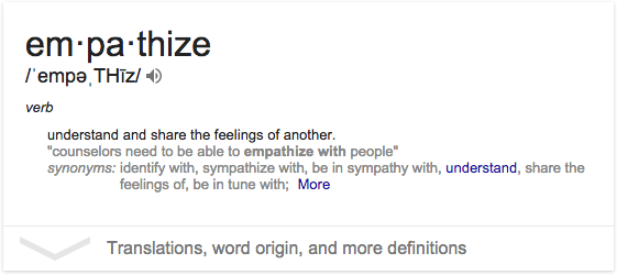 Google Empathize Definition