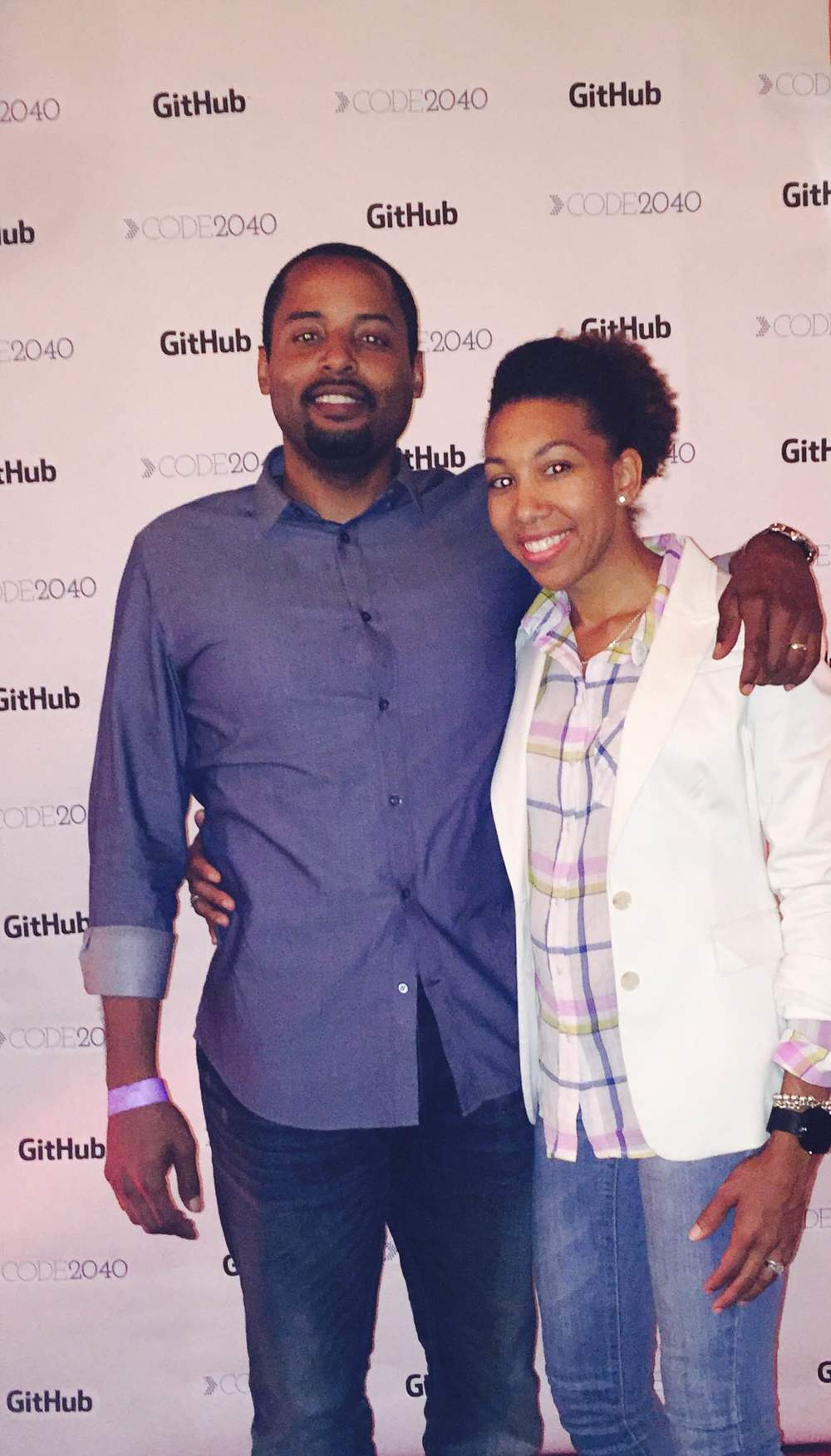 My husband @Code2040's Kick It event in San Francisco hosted by GitHub