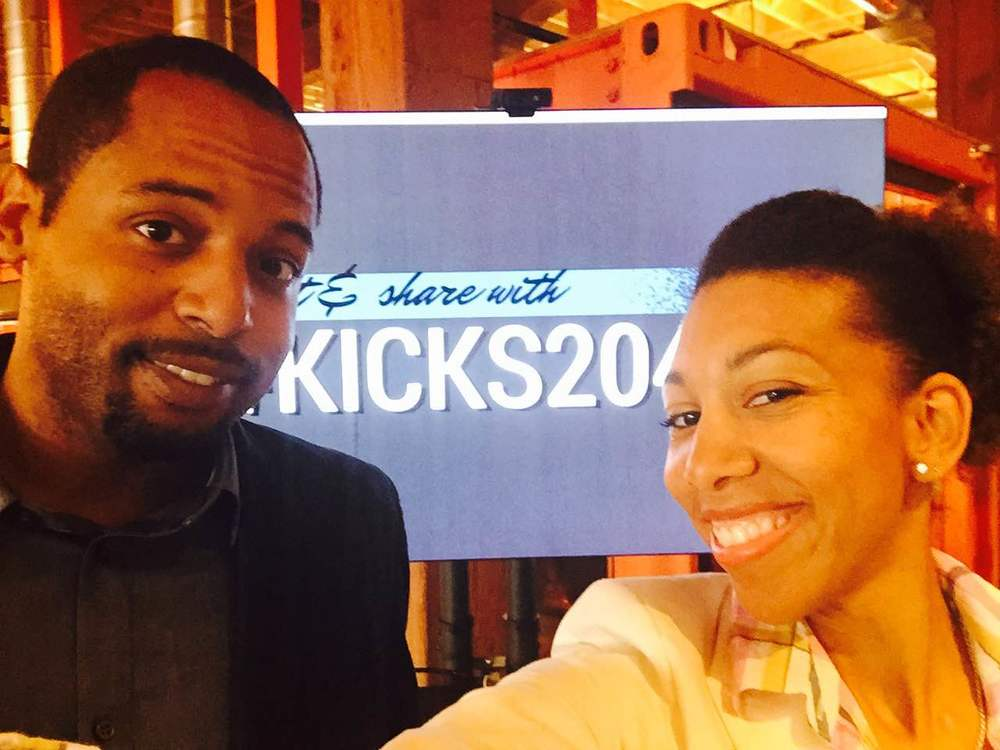 My hubby and I @Code2040's Kick It event in San Francisco