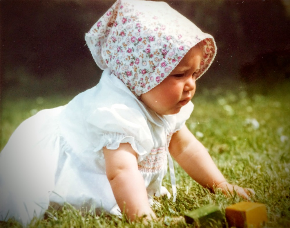 Me as a baby in the early '80s (no, not the 1880s)