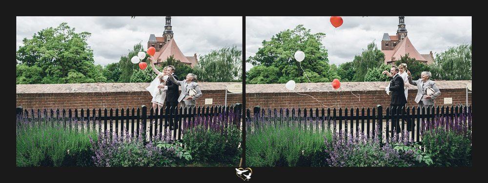 Hochzeit Luftballons fliegen