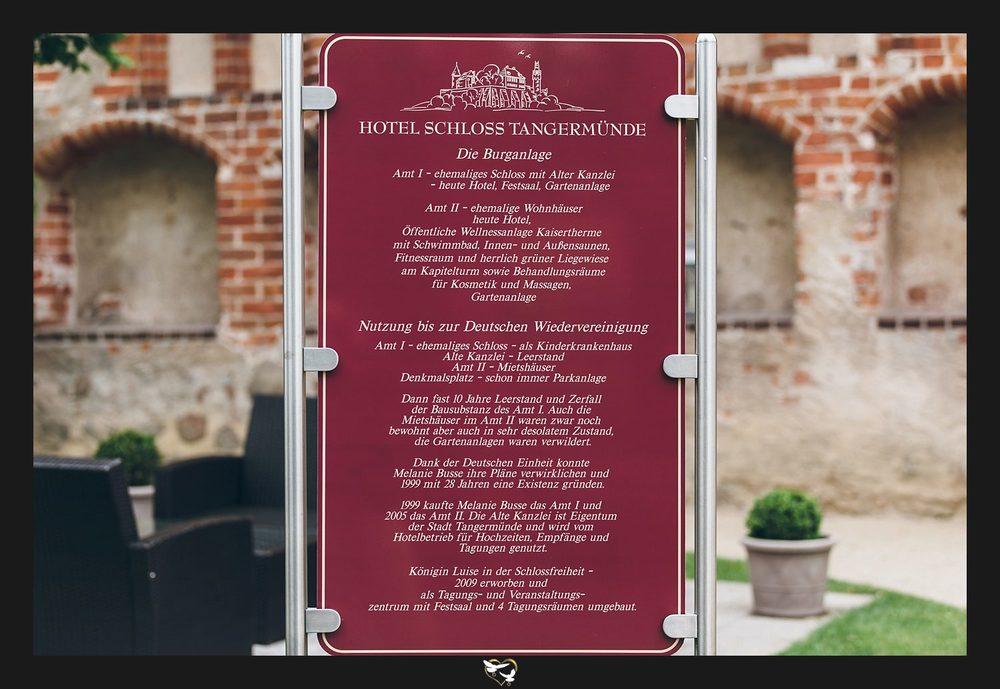 Infotafel Hotel Schloss Tangermünde