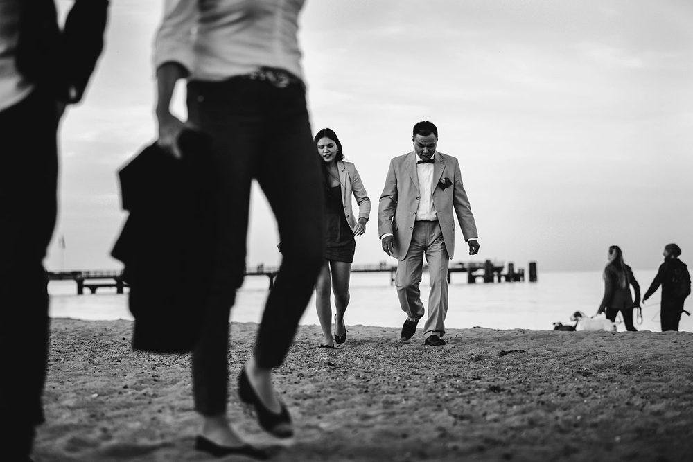 Hochzeit an der Ostsee in Dahme am Strand.