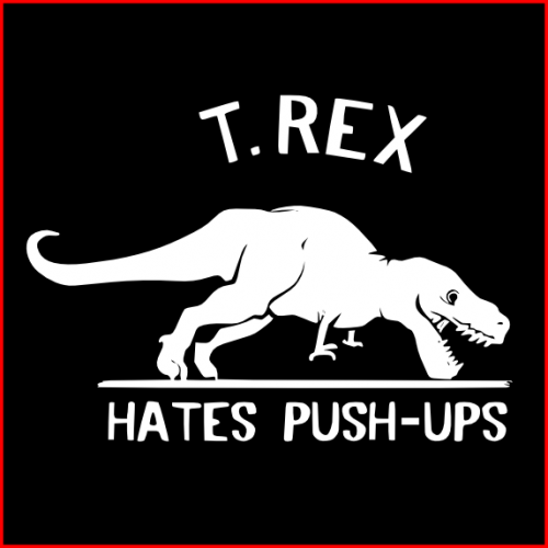 T-Rex hate push ups black box-500x500.png