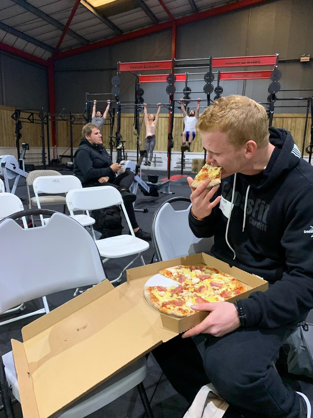Gregg ASHWELL tucking into a delicious Pizza on his L1!!! And he ate as much shit for it for the rest of the weekend! ;-)