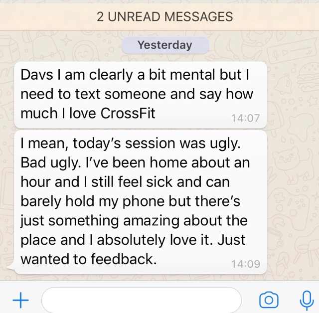 A cheeky bit of love for CrossFit, guess what…it really hurts but…it really works!! 😍
