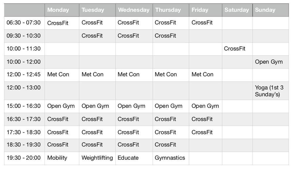 CrossFit Cardiff New Timetable 2018.jpg