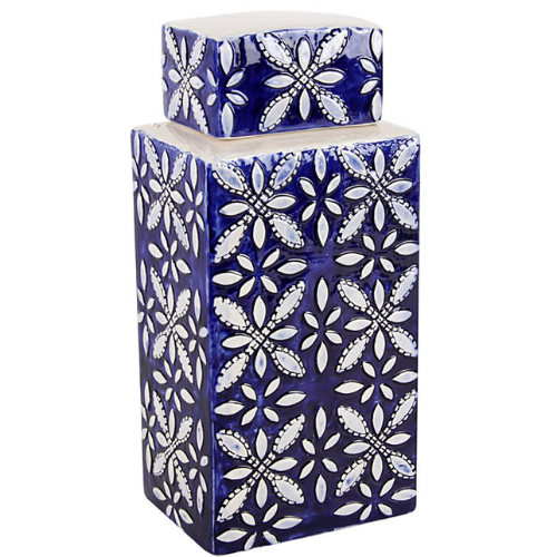 Embossed Square Ginger Jar, Mr Price Home - R499