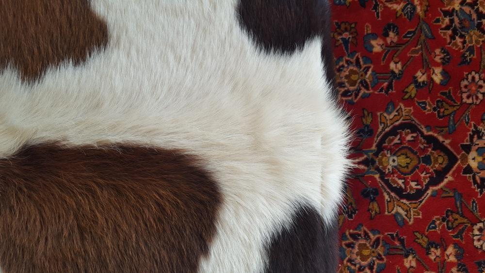 Ottoman, Cow Skin, Persian Rug