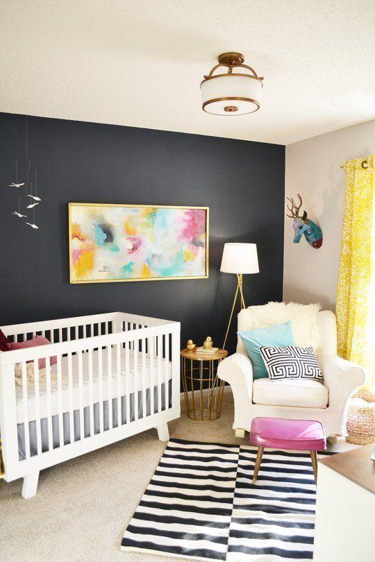 Dark Grey and Colourful Scandi Nursery