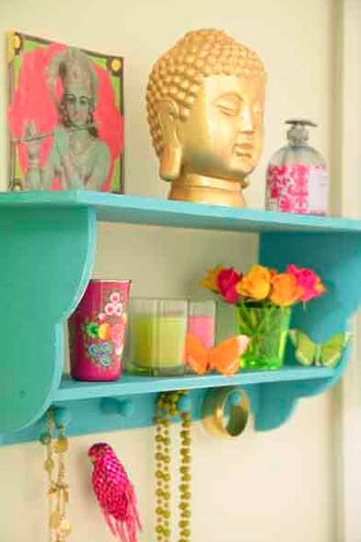 Buddah in bright home decor
