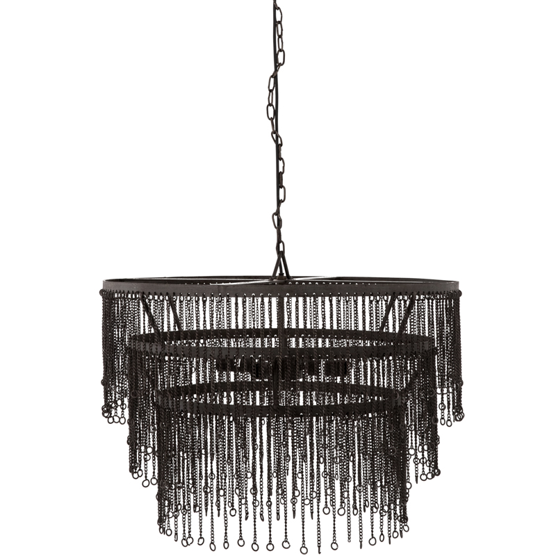 black chandelier for Chanel inspired nursery