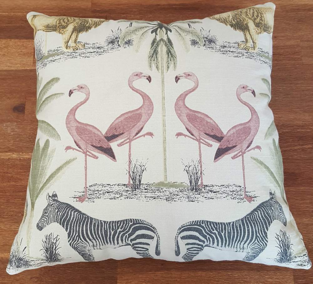 Flamingo Animals Linen Scatter Cushion For Sale.jpg